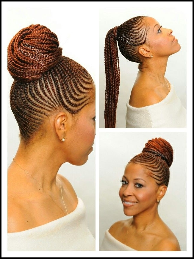 Cornrow Ponytail | Natural Hair Style Braids | Pinterest | Cornrow For Recent Braided Hairstyles In A Ponytail (View 11 of 15)