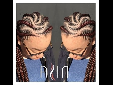 Cornrow Styles For Round Faces; Weaving Hairstyles For Natural Hair Pertaining To Most Recently Cornrows Hairstyles For Round Faces (View 14 of 15)
