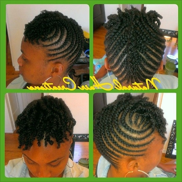 Cornrow Updo On Short Hair #twists #naturalhair #naturalhairstylist Pertaining To Most Popular Cornrows Short Hairstyles (View 3 of 15)