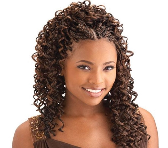 Featured Photo of Braided Hairstyles With Curly Weave