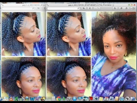 Cornrows Art / How To Style Your Crochet Braids – Youtube Pertaining To 2018 Elastic Cornrows Hairstyles (View 5 of 15)