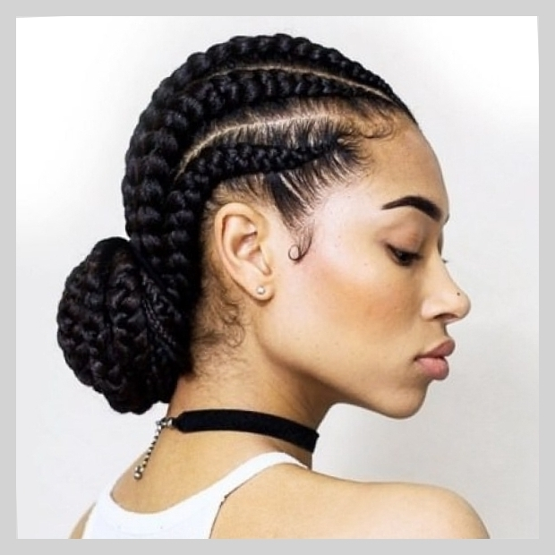 Cornrows Bun Hairstyles Cornrow Bun Hairstyles For Who Wants To Look Throughout 2018 Cornrows Hairstyles With Buns (View 3 of 15)