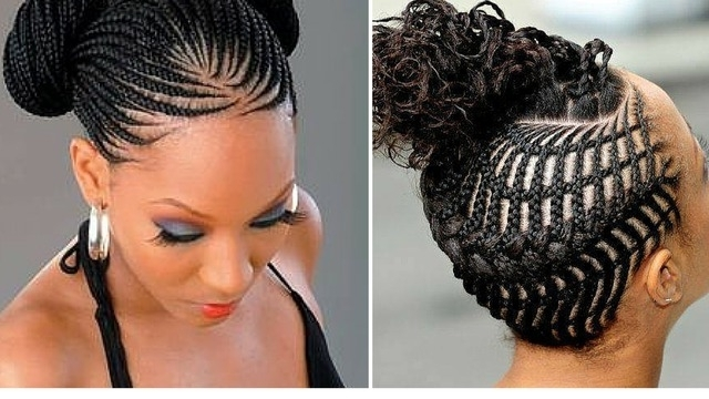 Showing Photos Of Straight Up Cornrows Hairstyles (View 10