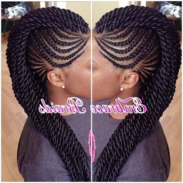 Cornrows Mohawk – Google Search | Hairstyles | Pinterest | Cornrows Throughout Current Chunky Mohawk Braid With Cornrows (View 13 of 15)
