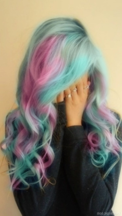 Cotton Candy Hair Pictures, Photos, And Images For Facebook, Tumblr Intended For Most Popular Cotton Candy Updo Hairstyles (View 3 of 15)