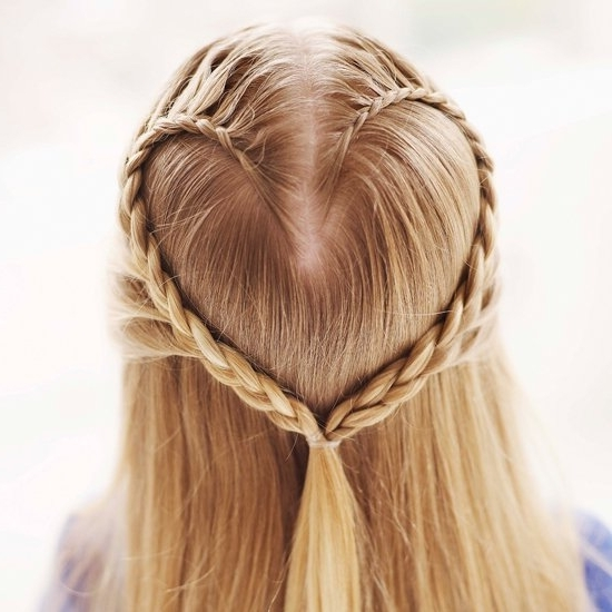 Create A Heart Hair Braid For Valentine's Day | Popsugar Moms Pertaining To Current Heart Braided Hairstyles (View 2 of 15)