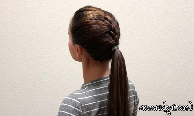 Creating Laura: A French Braid Into A Ponytail Within Newest Two Braids Into One Braided Ponytail (View 9 of 15)
