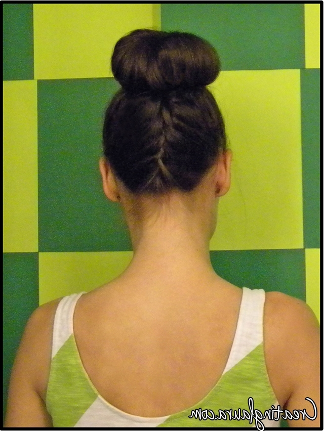 Creating Laura: May 2012 Intended For Latest Two French Braid Hairstyles With A Sock Bun (View 7 of 15)