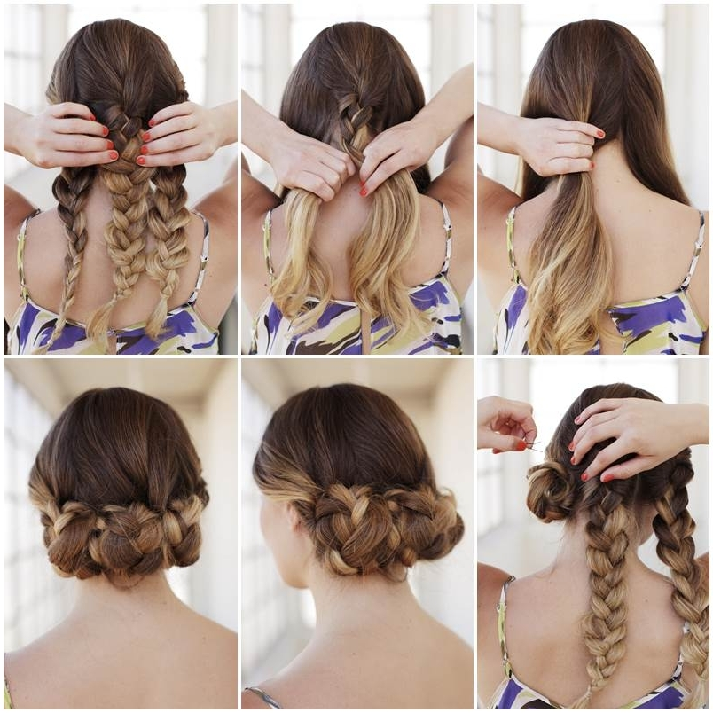 Creative Ideas – Diy Easy Braided Updo Hairstyle With Most Current Braided Updo Hairstyles For Short Hair (View 11 of 15)