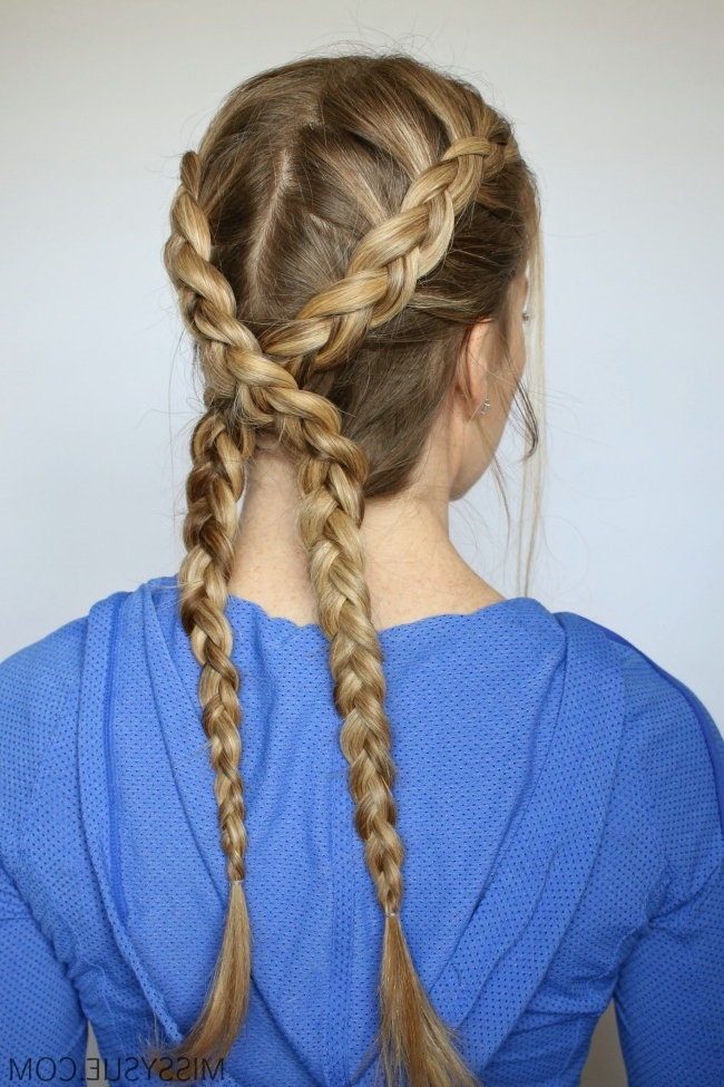 Criss Cross Dutch Braids Tutorial Easy Of Criss Cross Braids For Latest Mohawk With Criss Crossed Braids (View 10 of 15)