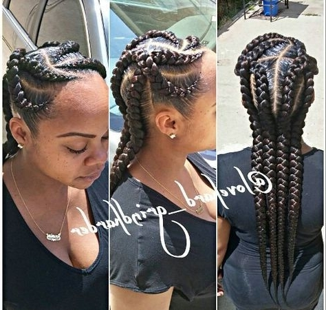 Featured Photo of Criss Crossed Braids With Feed In Cornrows