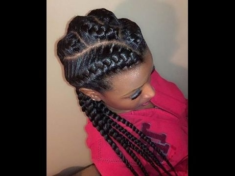 Criss Cross Goddess Braids Hairstyles – Chunky Cornrow Braids With Regard To Most Recent Chunky Cornrows Hairstyles (View 4 of 15)