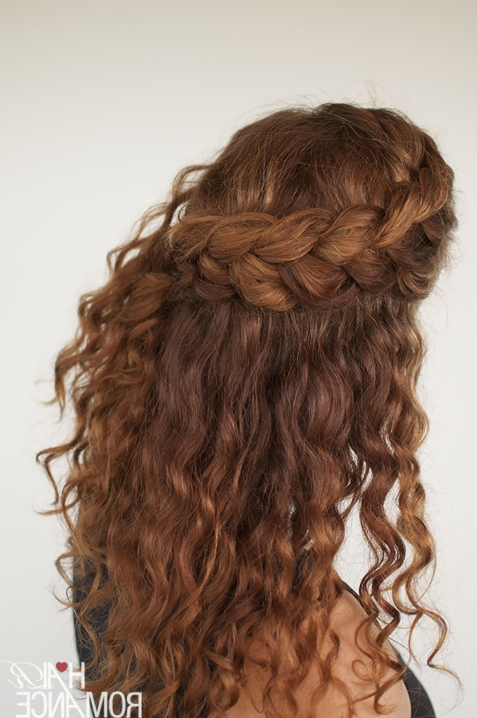Curly Hair Tutorial – The Half Up Braid Hairstyle – Hair Romance Within Most Recent Braided Hairstyles With Curls (View 4 of 15)