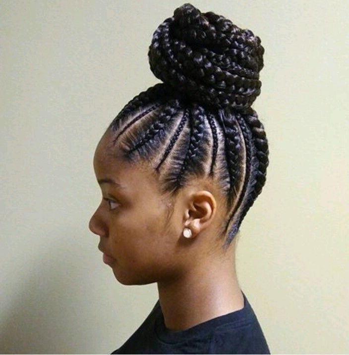 Cute And Chic Female Cornrow Styles Throughout 2018 Cornrows Hairstyles For Adults (View 15 of 15)
