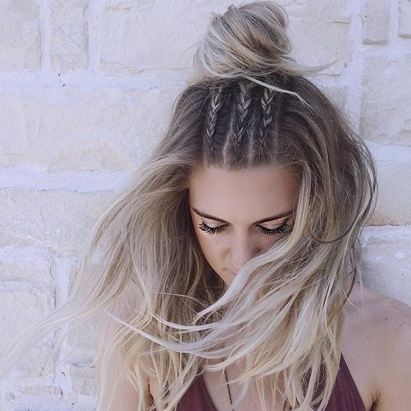 Cute Braided Hairstyle | School Hairstyles | Pinterest | Hair Style In Newest Braided Hairstyles On Top Of Head (View 4 of 15)