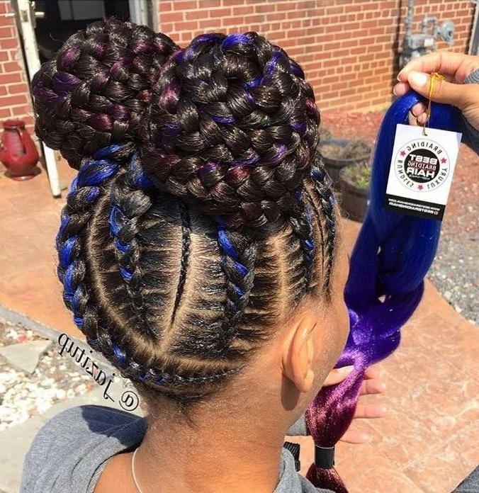 Cute Braided Hairstyles For Black Girls – Leymatson Inside Most Up To Date Braided Hairstyles For Girls (View 12 of 15)