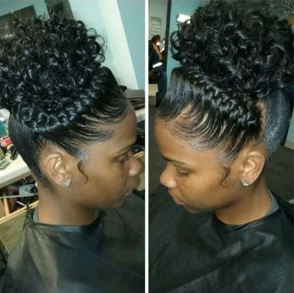 Cute Braided Hairstyles For Black Girls With High Puff Cute Braided Inside Current Braided Hairstyles Up In One (View 6 of 15)