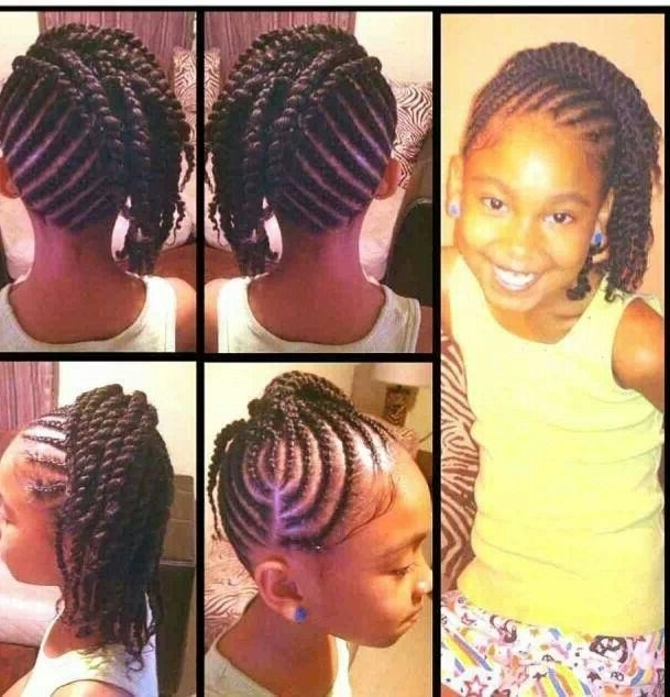 Cute Cornrow Hairstyle | Babygirl's Hair | Pinterest | Cornrow, Hair Within Most Current Cornrows With Artistic Beaded Twisted Bun (View 12 of 15)
