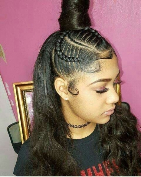 Cute Hairstyles With Weave Incredible Cute Braided Hairstyles With With Regard To Most Recent Braided Hairstyles With Weave (View 7 of 15)