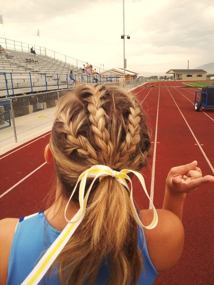 Cute Track And Field Hairstyle | Hair And Beauty | Pinterest Intended For 2018 Braided Hairstyles For Runners (View 10 of 15)