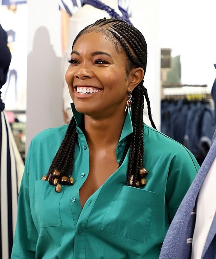 Cute Ways To Wear Beads On Cornrows, Braids, And Locs Pertaining To Current Braided Cornrows Loc Hairstyles For Women (View 13 of 15)