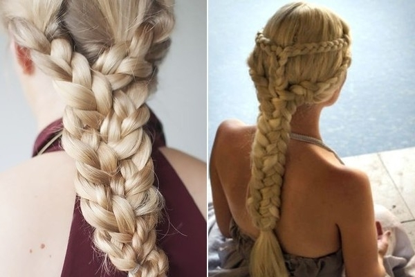 Daenerys' Triple Braid – 'game Of Thrones' Inspired Hairstyles Intended For Most Recent Triple The Braids Hairstyles (View 8 of 15)