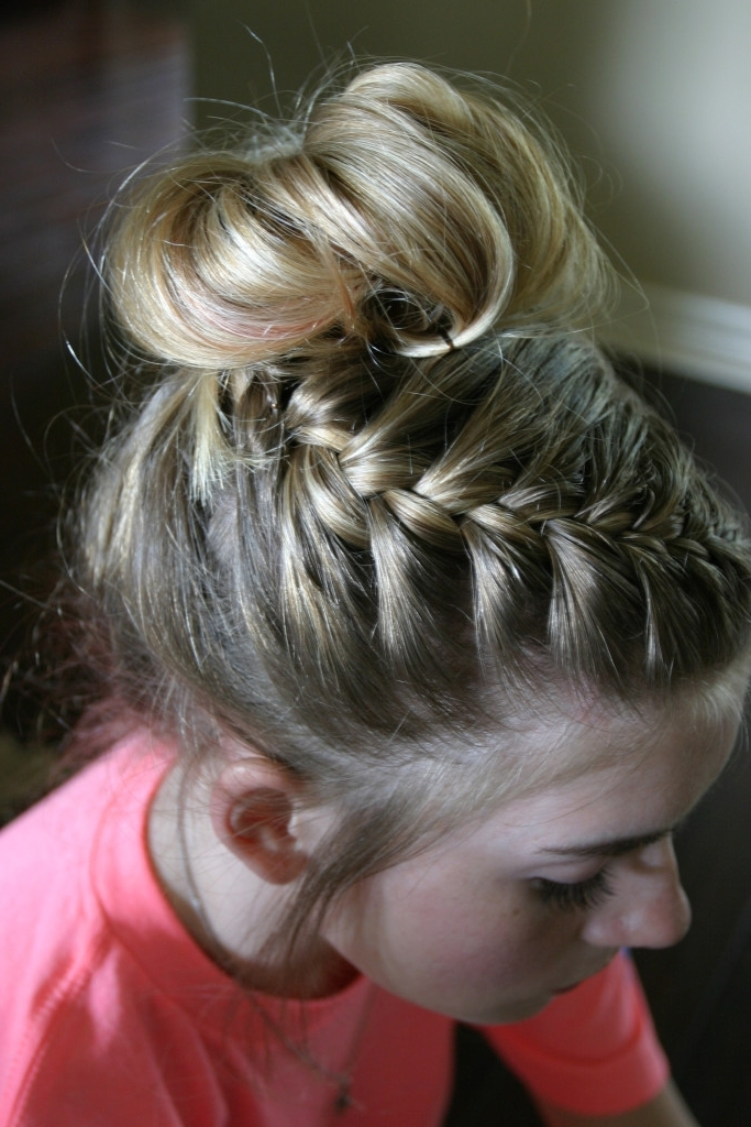 Dance Hair: Braided Messy Bun Tutorial | Sand Sun & Messy Buns Regarding Most Recent Braid Hairstyles To Messy Bun (Gallery 6 of 15)