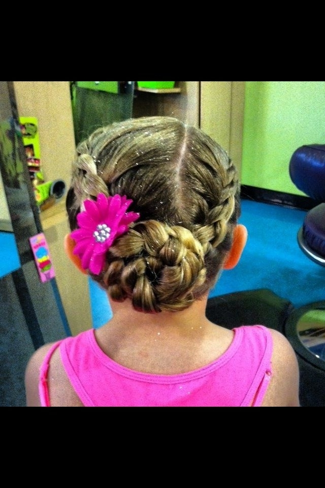 Dance Recital Hair Style | Hair | Pinterest | Dance Recital, Hair Regarding Best And Newest Braided Hairstyles For Dance Recitals (View 3 of 15)