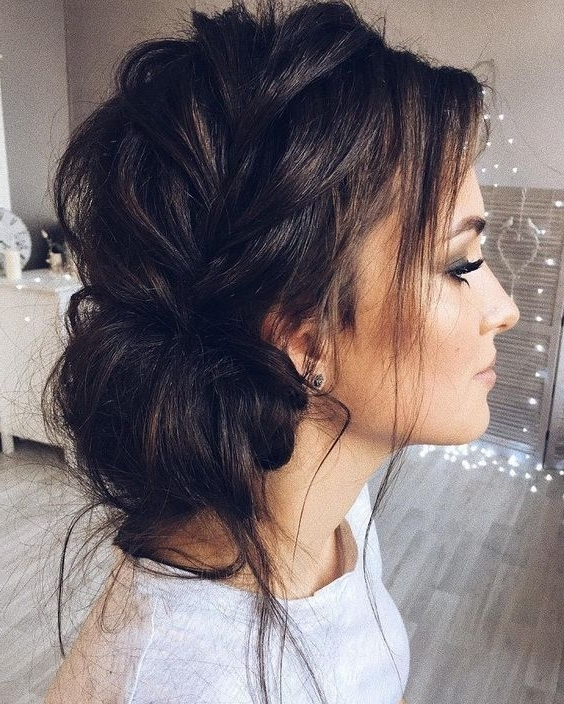 Dark Hair Braids In Accord With Beautiful Updo With Side Braid With Newest Braided Hairstyles For Dark Hair (Gallery 14 of 15)