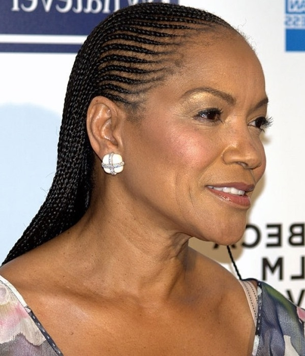 Dazzling Braided Hairstyles For Women Over 40's – Eye Catching Black In Latest Braided Hairstyles For Women Over (View 5 of 15)