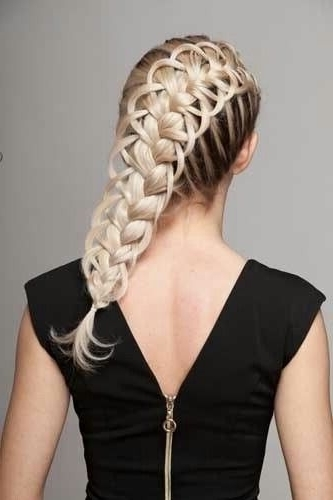 Diagonal French Loop Braid Video Tutorial And More Pics Throughout Most Recent Diagonal French Braid Hairstyles (View 10 of 15)