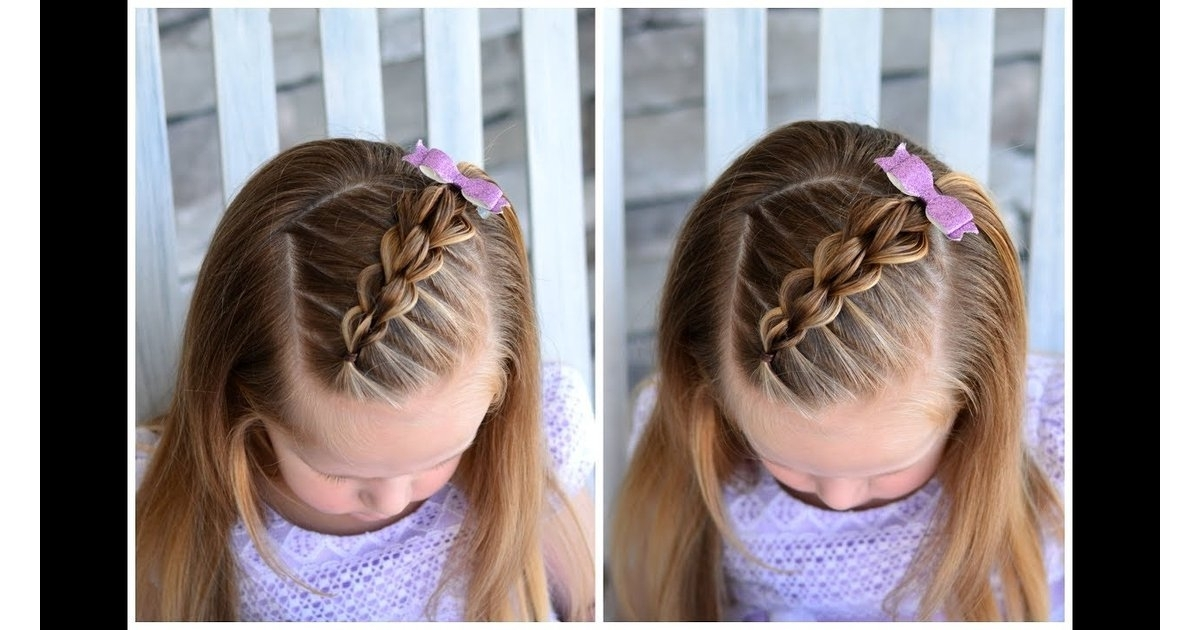 Diagonal Strand Pull Through Braid | Easy Hairstyles For Girls Inside Current Diagonally Braided Ponytail (Gallery 11 of 15)
