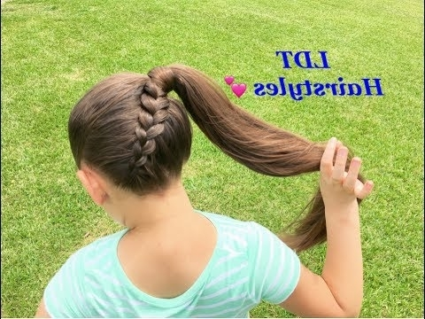 Diagonal Upside Down Dutch Braid – Youtube With Newest Diagonally Braided Ponytail (Gallery 15 of 15)