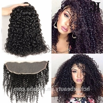 Different Types Of Curly Weave Hair Deep Curly Bulk Hair Crochet Pertaining To Best And Newest Braided Hairstyles With Curly Weave (Gallery 6 of 15)