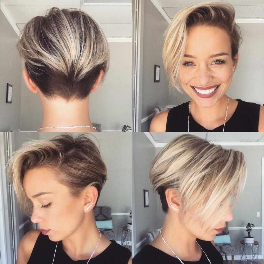 Disconnected Blonde Pixie Haircut | Hair | Pinterest | Sarah Louwho Pertaining To Latest Disconnected Blonde Balayage Pixie Haircuts (Gallery 4 of 15)
