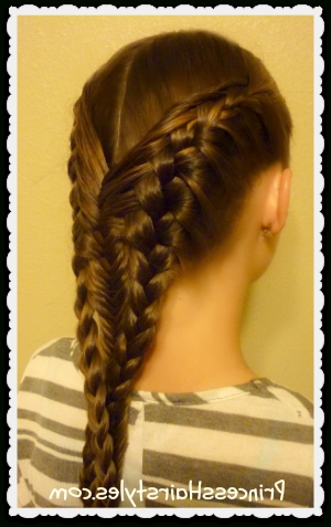 Diving Mermaid Braid Hairstyle Tutorial – Hairstyles For Girls For Latest Mermaid Braid Hairstyles (Gallery 7 of 15)
