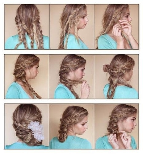 Diy Bohemian Braided Updo Hairstyle Diy Bohemian Braided Updo Pertaining To Most Recently Diy Braided Hairstyles (Gallery 6 of 15)