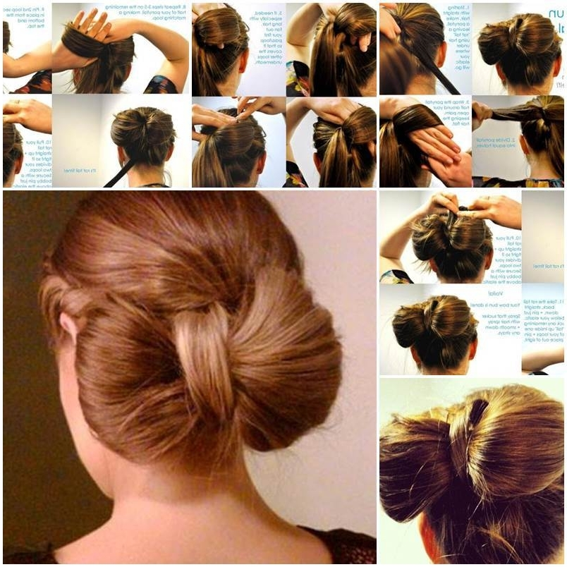 Diy Bow Bun Pertaining To Recent Elegant Bow Braid Hairstyles (Gallery 4 of 15)