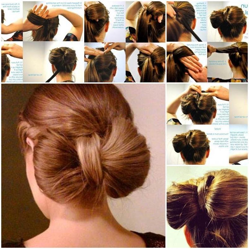 Diy Bow Bun Pertaining To Recent Elegant Bow Braid Hairstyles (View 4 of 15)