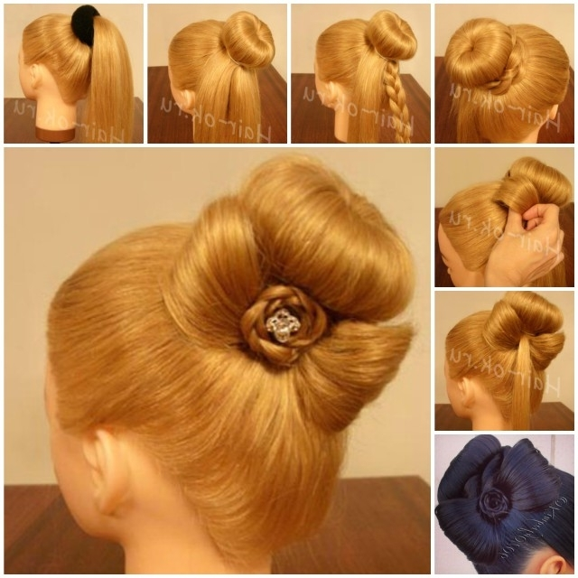 Diy Braided Bow Bun Hairstyle (Video) With Latest Elegant Bow Braid Hairstyles (View 15 of 15)