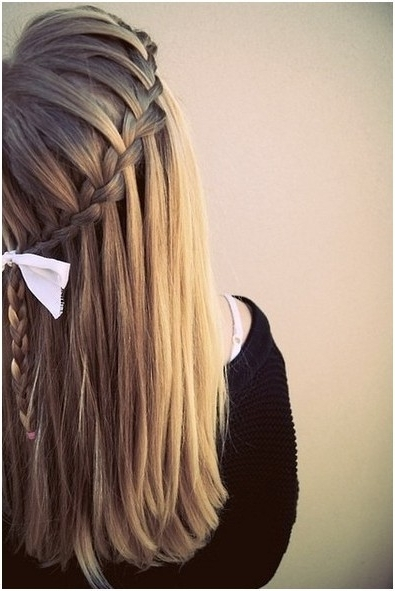 Diy Braided Hairstyles: Straight Long Hair – Popular Haircuts Intended For Most Recently Braided Hairstyles For Straight Hair (View 3 of 15)