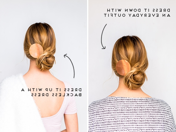 Diy Double Take: Messy Side Swept Chignon Hair Tutorial + Diy Copper Regarding Latest Side Top Knot Ponytail With Copper Wire Wraps (Gallery 12 of 15)