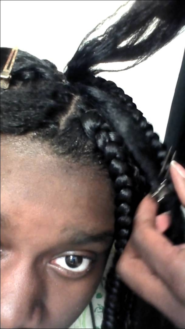 Diy Rubber Band Method Box Braids Part 1 – Youtube Regarding Best And Newest Braid Hairstyles With Rubber Bands (Gallery 10 of 15)