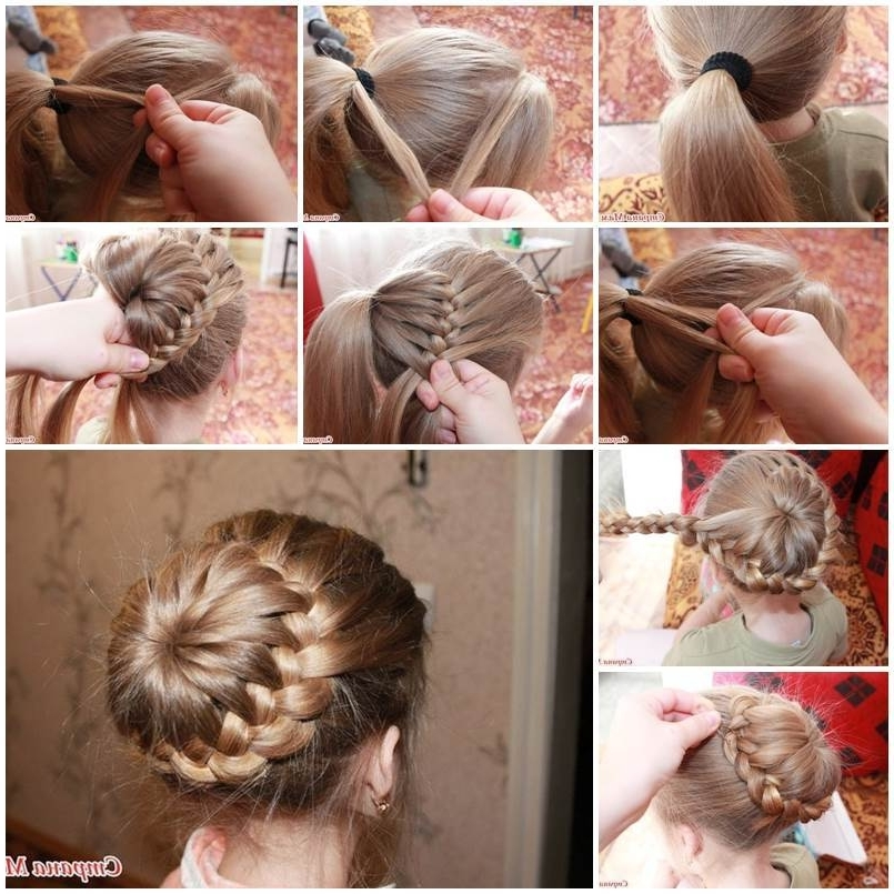 Diy Unique Braided Bun Hairstyle Regarding 2018 Bun And Braid Hairstyles (Gallery 14 of 15)