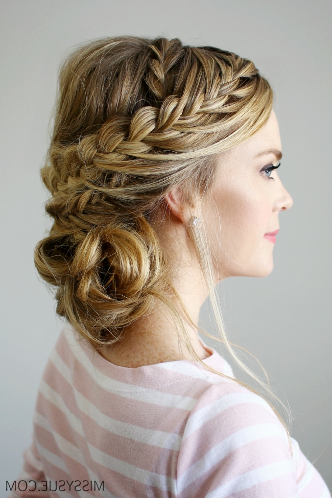 Double Braid Textured Updo | Pinterest | Updo, Updos And Hair Makeup Within Latest Double Braids Updo Hairstyles (View 3 of 15)