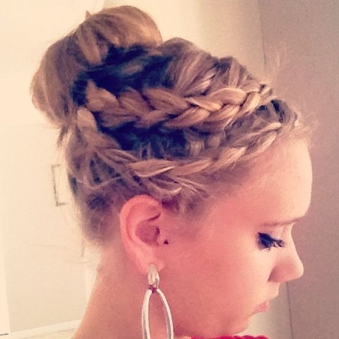 Double Dutch Braid Into A Sock Bun | My Hair | Pinterest | Double With Most Up To Date Two French Braid Hairstyles With A Sock Bun (Gallery 6 of 15)