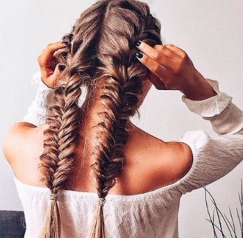 Double Dutch Braid Styles: 8 Epic Pinterest Ideas And 30 Tutorials Throughout Recent Two French Braids And Side Fishtail (View 11 of 15)