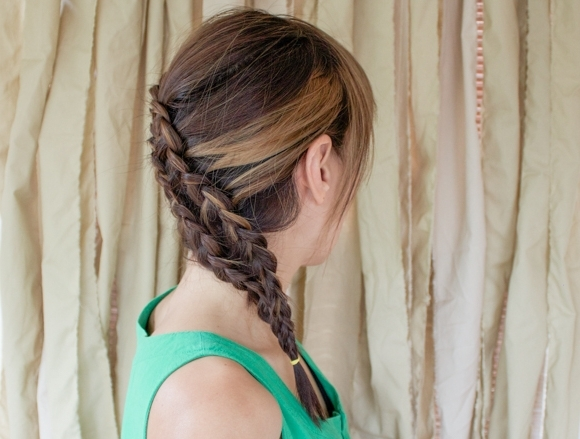 Featured Photo of Diagonal Two French Braid Hairstyles