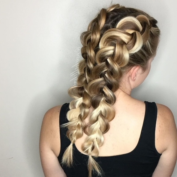 Double Dutch Braids  The Sexy New Spin On Classic Pigtails | Beauty In Best And Newest Two Classic Braids Hairstyles (Gallery 4 of 15)