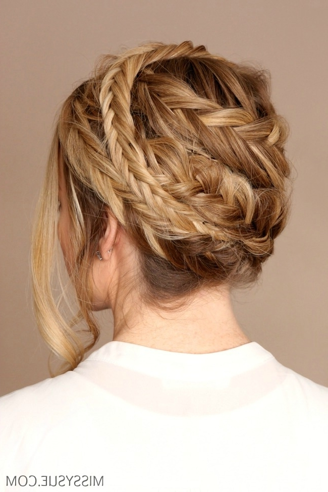 Double Fishtail Crown Braid | Missy Sue Regarding Most Up To Date Double French Braid Crown Hairstyles (View 6 of 15)